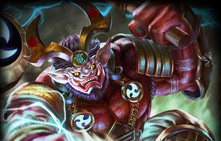Raiju And Raijin : Raijin is the bringer of rain, a boon to farmers.