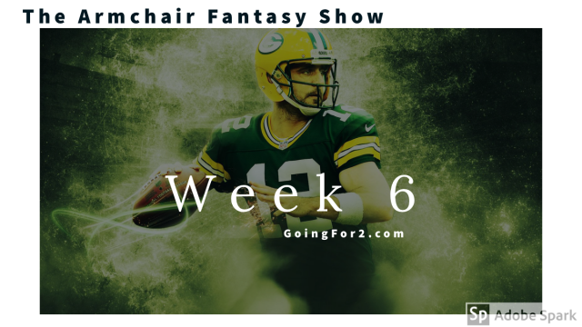Armchair Fantasy Show Ep 109: DFS NFL FanDuel/DraftKings Week 6 Advice