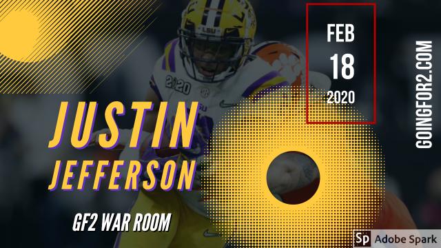GF2 War Room: Justin JeffersonGoingFor2.com | GoingFor2.com